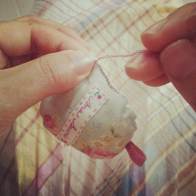 Sewing up to finish the ornaments... #sewing #stitching #handmade by #anasucre #수작업 #바느질 #아나수크레