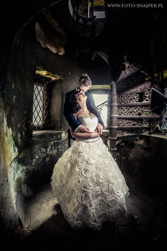 Pałac krowiarki i sesja ślubna