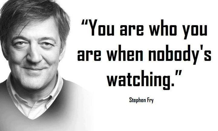 The wisdom of Stephen Fry. Frightening but true.