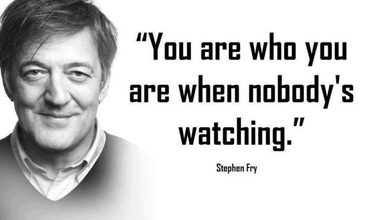 The wisdom of Stephen Fry.