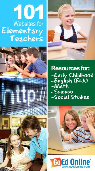 101 Websites That Every Elementary Teacher Should Know About