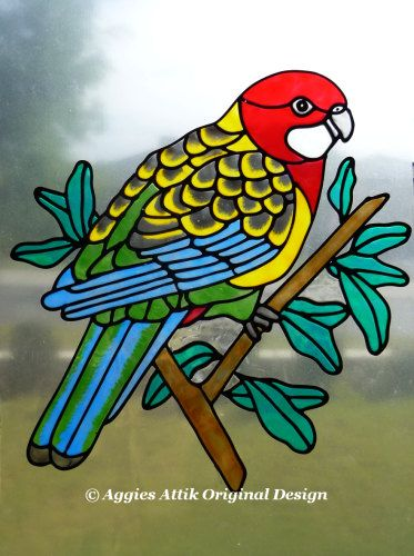 Best Stain Glass Birds Images On Pinterest Stained Glass - Window decals for birds canada