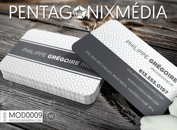 MOD0009 Cartes d'affaires / Cartes de visite par PentagonixMedia