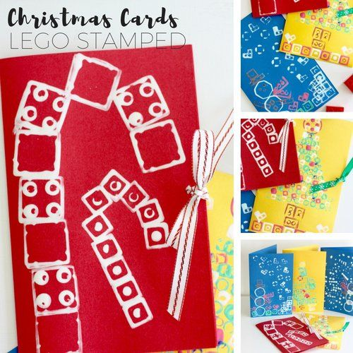 If you are looking for a homemade Christmas card crafting activity, try our LEGO stamped Christmas cards for kids! Make a one of a kind LEGO card!