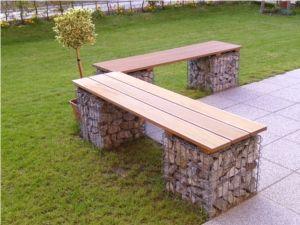 Bänke und individuelle Sitzgelegenheiten aus Gabionen