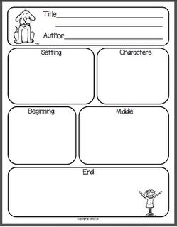 story map  I think I may print a handful of these to use after N reads a story.  I don't think he is comprehending very well when he reads it himself, maybe this will help!
