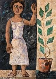 SIKELIOTIS George,Girl standing next to a plant