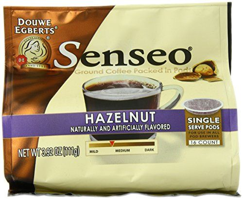 Senseo Vienna Hazelnut Waltz Coffee, 16-Count Pods (Pack of 6) ** Check this useful article by going to the link at the image. #SingleServeCoffeeCapsules