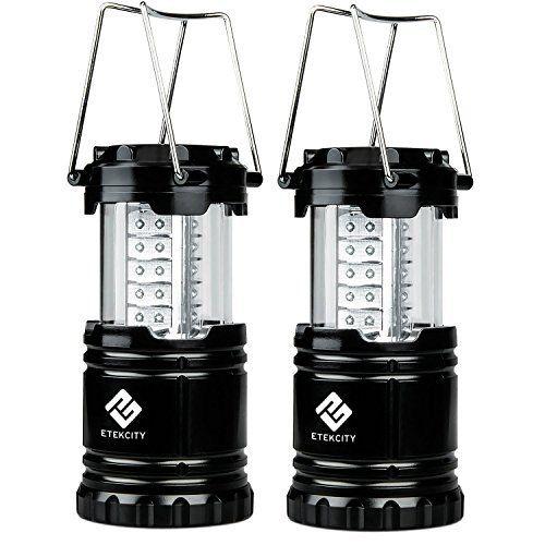 Etekcity Lot de 2 LED Lanterne de Camping Pliable Lampe Camping Ultra-lumineuse, Basse Consommation Energétique, Poignées Ajustables,…