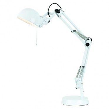 Lampka biurkowa Colours Droide 1 x 40 W E14 biała