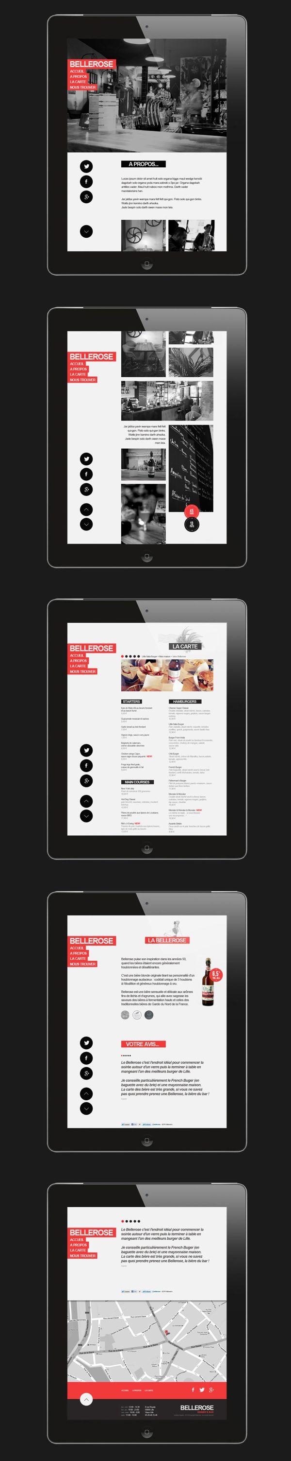 Web | Bellerose Concept by Thomas Le Corre, via Behance - navigation #tablet #ui #design http://www.pinterest.com/alextcsung/