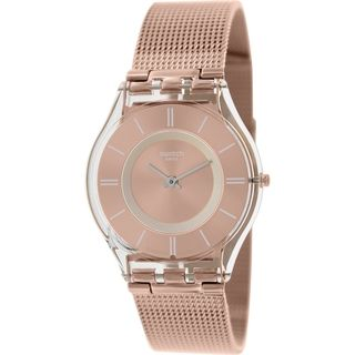 Swatch Women's 'Skin' Rose-gold Stainless-steel Swiss Quartz Watch