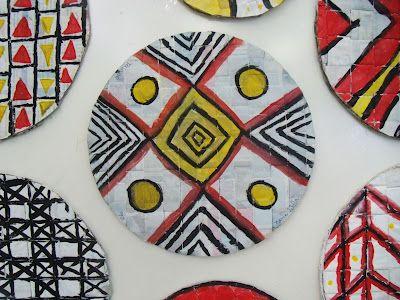 from Sala de Arte blog: indigenous Brasilian designs weaving