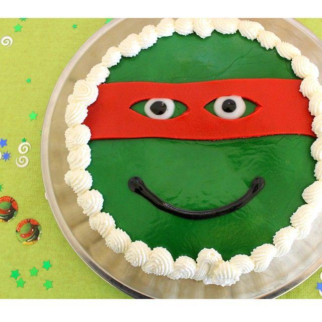 Sådan blev ninja turtles lagkagen da den var færdig   #ninjaturtles #ninjaturtleskage #lagkage #børnefødselsdag #4årsfødselsdag #drengefødselsdag