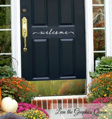 Script Style Welcome Front Door Vinyl Wall Decal