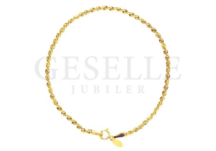 Piękna, złota bransoleta o efektownym splocie kordel   ZŁOTO \ Żółte złoto \ Bransoletki od GESELLE Jubiler