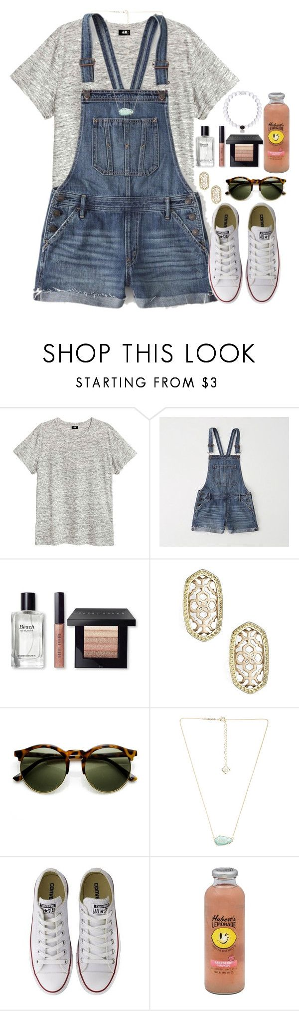 """""""~summer dayz~"""" by flroasburn on Polyvore featuring Abercrombie & Fitch, Bobbi Brown Cosmetics, Kendra Scott, Converse and Hansen"""