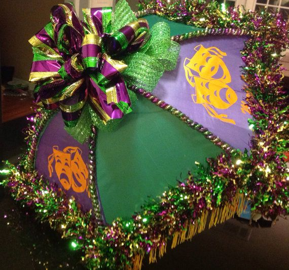 Second Line Mardi Gras Umbrellas with Fringe | Mardi gras ...