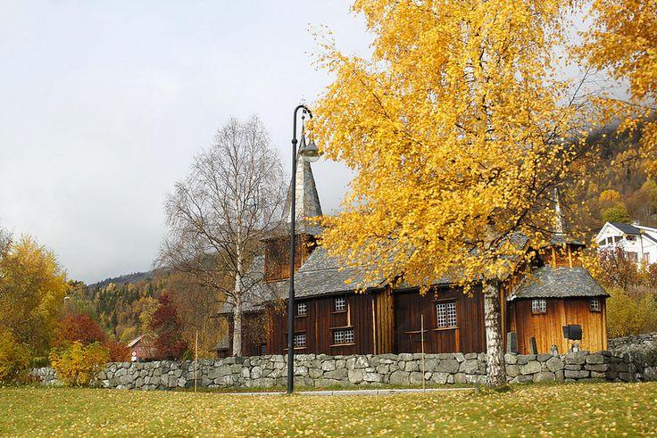 Una church muy tipica en Noruega