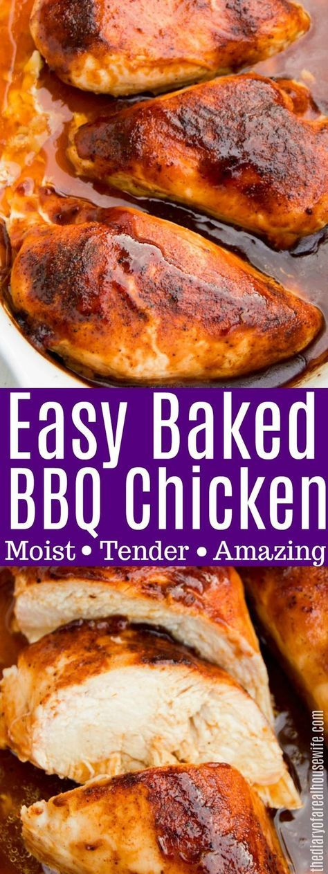 Baked BBQ Chicken #chicken #chickenbreast