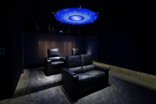 """INTELLISYS THEATRE: Intellisys is a home automation integration company based in Whangaparaoa. In 2012 Intellysis set up a demonstration theatre incorporating Alloyfold Tchaikovsky Cinema seats with D-Box motion master mechanisms installed.  """"The range of models, colour and finishing options allowed us to choose the most suitable seats for our cinema, and their excellent customer service made the whole process a great experience."""" Des Dass, Managing Director, Intellisys Ltd"""