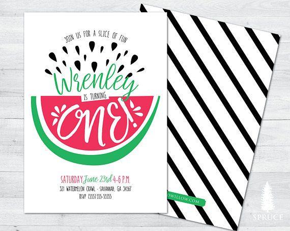 watermelon birthday invitation watermelon birthday party