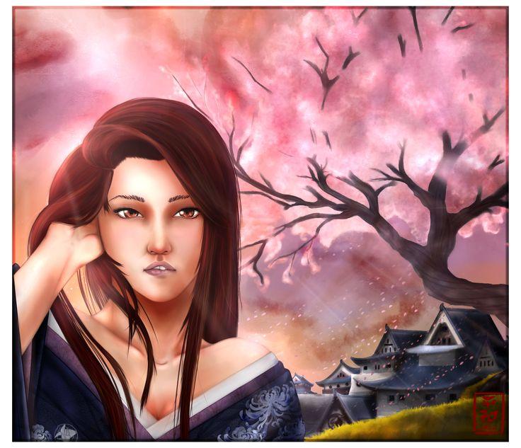 L5R- cherry blossom  http://pazu-ru.deviantart.com/art/L5R-cherry-blossom-598831273