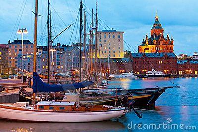 Old Port in Helsinki, Finland by Oleksiy Mark, via Dreamstime