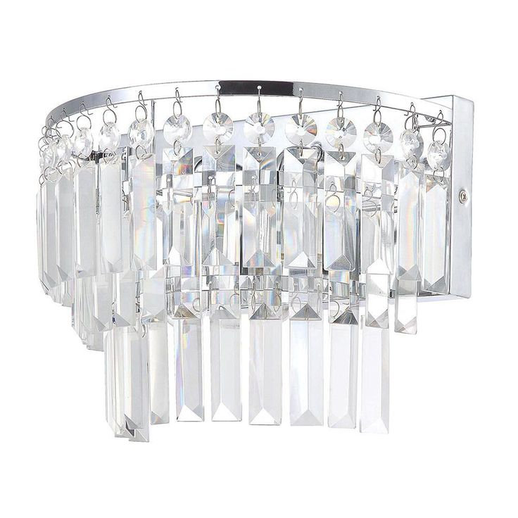 Square Crystal Bathroom Lighting