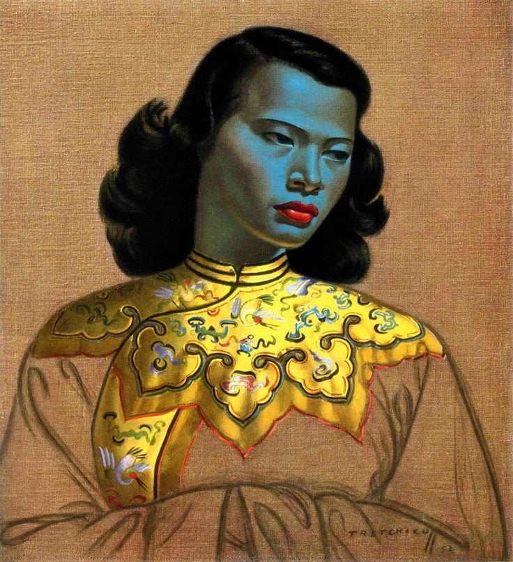 'Chinese Girl' by Russian-South African artist Vladimir Tretchikoff  http://www.russianartandculture.com/wp-content/uploads/2013/01/Chinese-Girl-Tretchikoff-933x1024.jpg