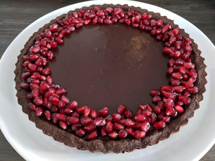 Chocolate Tart with Pomegranates