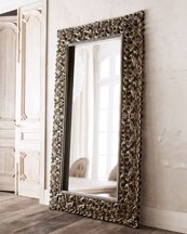 There's something about a floor mirror leaned against a wall or corner that I love! Gilded ornate floor mirrors!