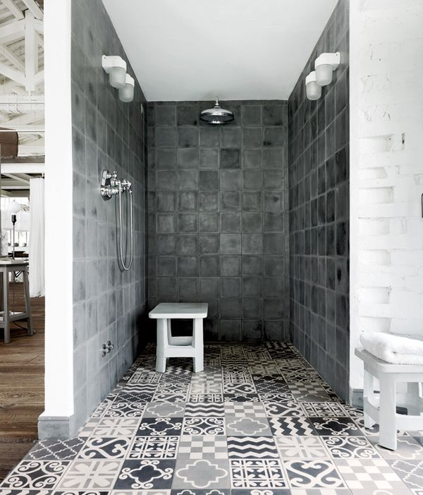 Industrial style renovation of villa in Umbria by Paola Navone