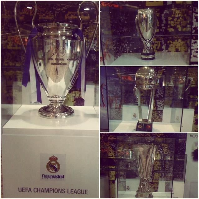 De visita en la tienda del RM- Copas: Intercontinental, UEFA, UCL, SC de Europa #halamadrid