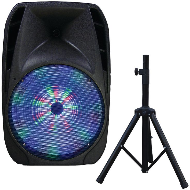 "Supersonic 15"" Portable Bluetooth Dj Speaker With Stand"