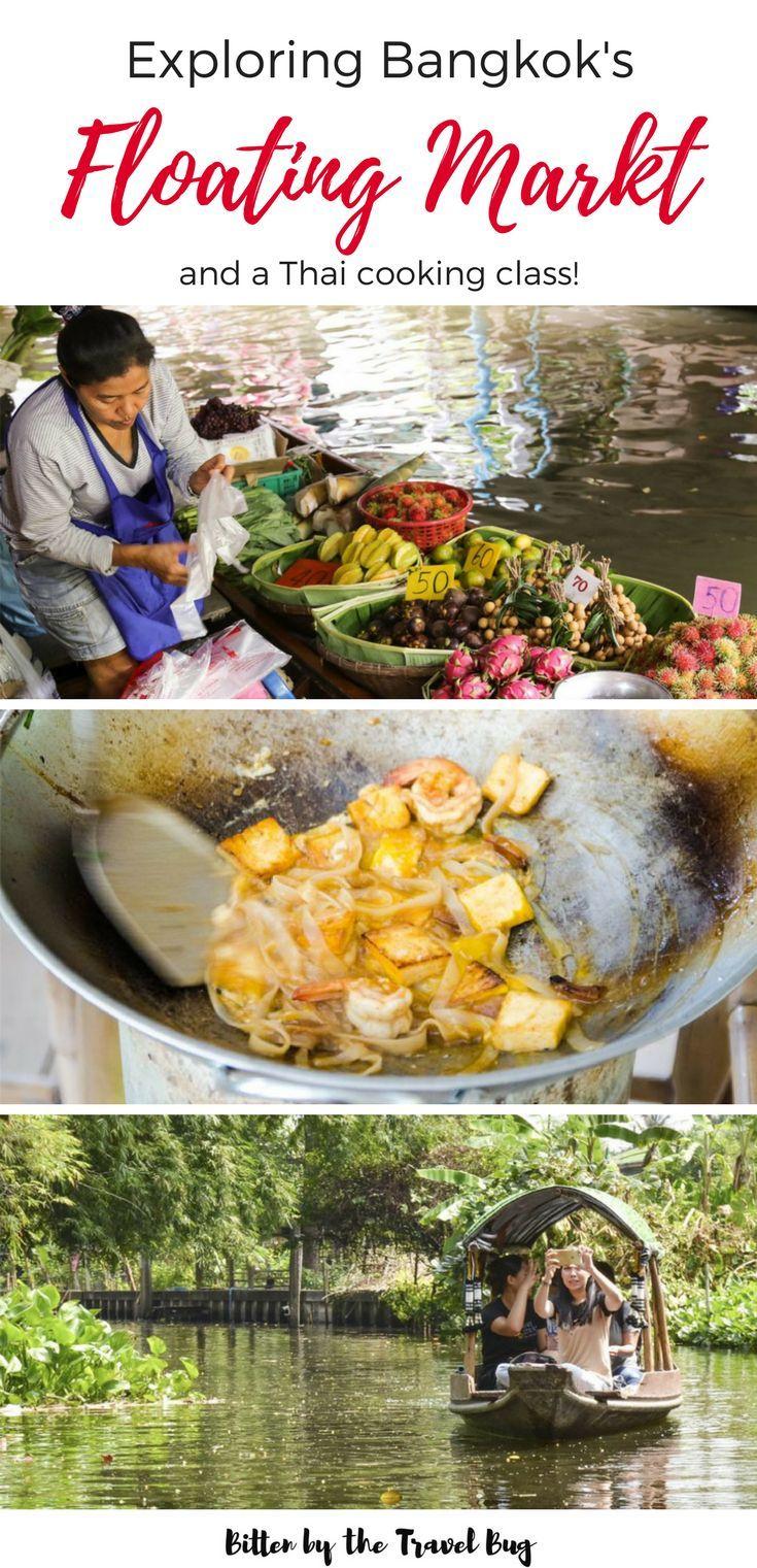 Explore the vibrant colours and flavours of Bangkok's Khlong Lat Mayom Floating Market   #Bangkok #Thailand #Asia #floatingmarket   via. @NicoleTravelBug   How to get to Khlong Lat Mayom   Floating Markets near Bangkok   Floating Markets in Thailand   Markets in Asia   Best Markets in Bangkok   What to do in Bangkok  
