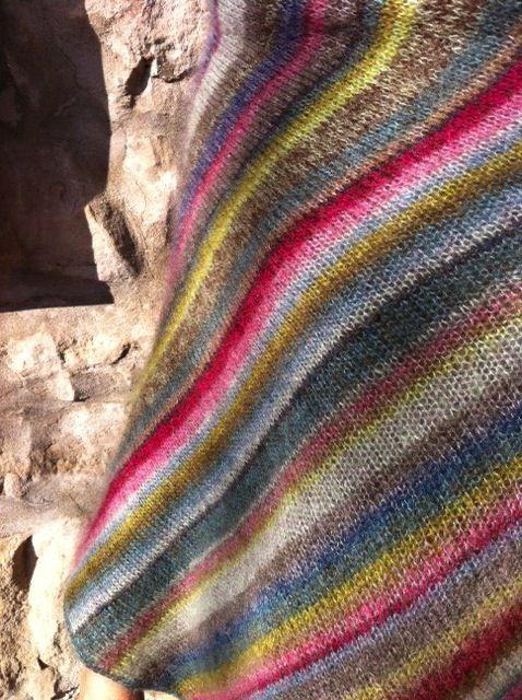 kaffe fassett knitting patterns | pattern: Earth Stripe Wrap by Kaffe Fassett