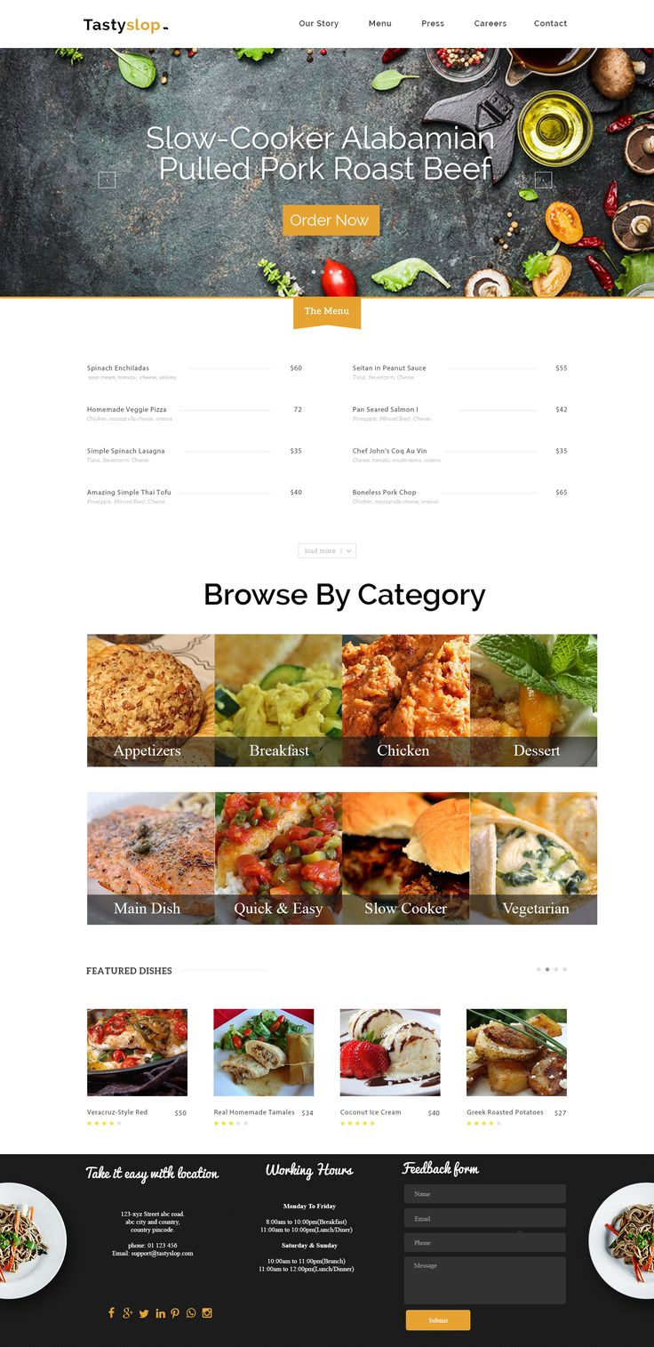 #Tasty #Slop is online #food ordering #website. This #website is #developed by #Wordpraxs. To #design and #develop your #WordPress based website contact us at service@wordpraxs.com