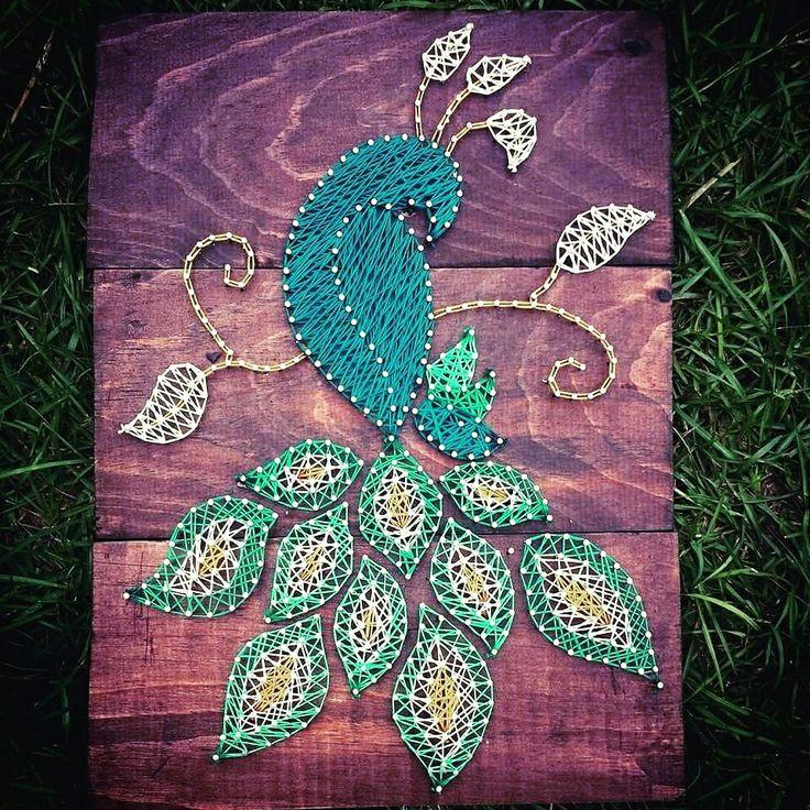 String art peacock
