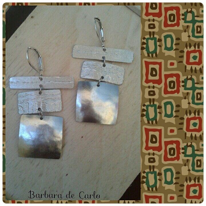 Orecchini in alluminio - aluminium earrings