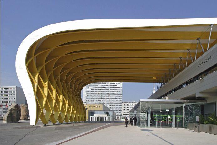 Glulam Wooden Truss Austria Center Vienna Hasslacher