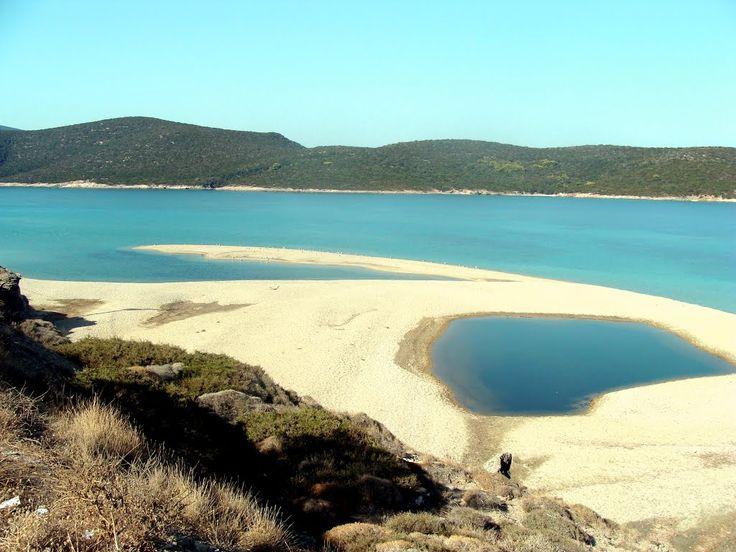 Megali amos beach, Marmari, Evia island. Greece.