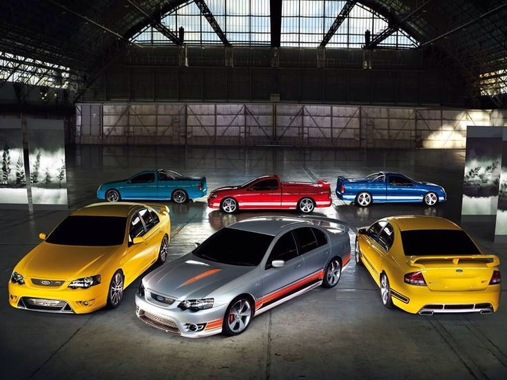 I want ALL of these in MY garage!! Ford Falcon F6 Tornado Ute, BOSS ute and GT sedans
