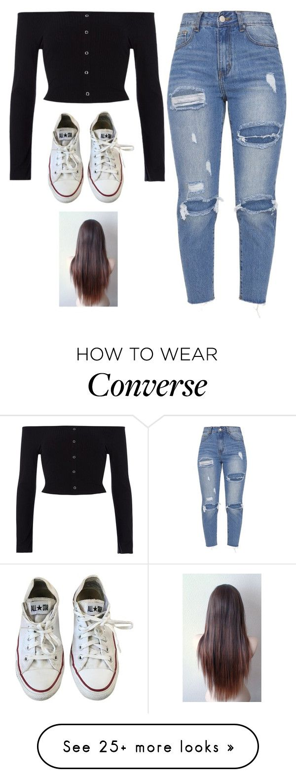 """""""Untitled #5546"""" by twerkinonmaz on Polyvore featuring River Island and Converse"""