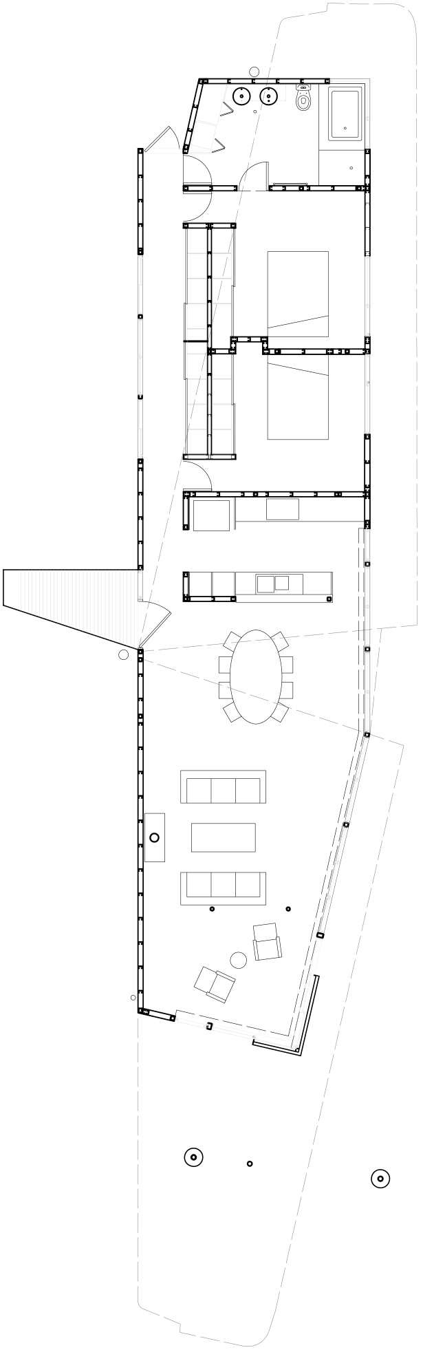 Winged House Floor Plan