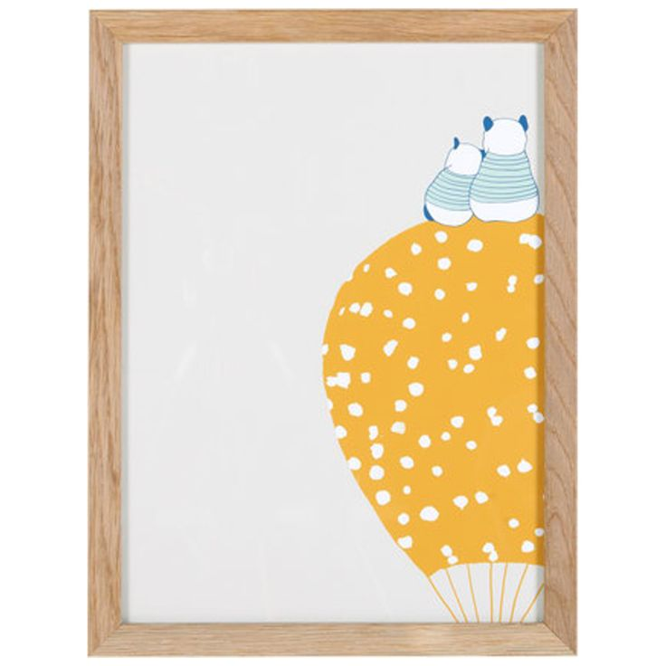 Balloons Yellow Balloon Wall Art, 40 x 30 cm from Made.com. Multi-Coloured. NEW Express delivery. Hot air balloons, clouds and super-cute pandas. Th..