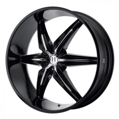 "gloss black machined face 6"" 22"" rims 