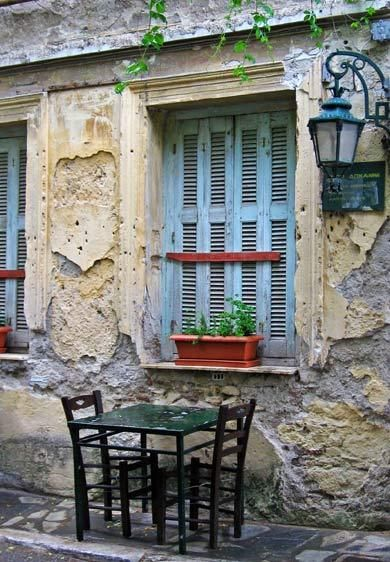 Sidewalk Cafe.. Plaka, Athens // Cheryl Dorris Photography  #Athens #Greece #solebike #e-bike #sightseeing #plaka