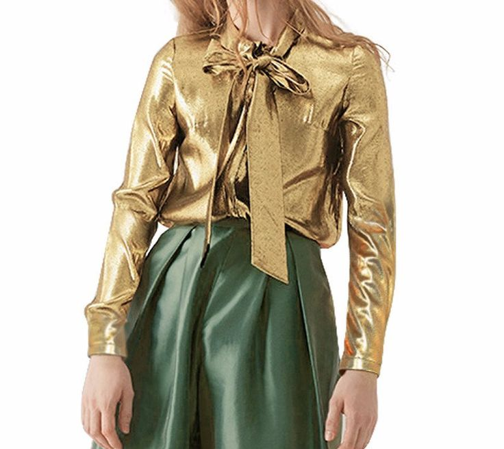 Best 20  Gold blouse ideas on Pinterest | Silk pants outfit ...