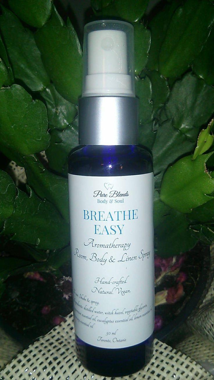 Breathe Easy Aromatherapy Room, Linen & Body Spray